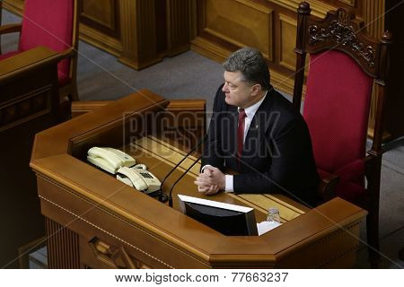 President Of Ukraine Petro Poroshenko 27 November 2014