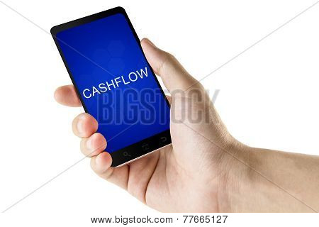 Cashflow Word On Digital Smart Phone