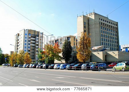 Cars And Residential Houses In Zverynas District