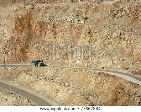 Dump Truck In Pilaroscia Career Fluxing Limestone