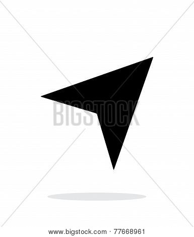 Direction arrow icon on white background.