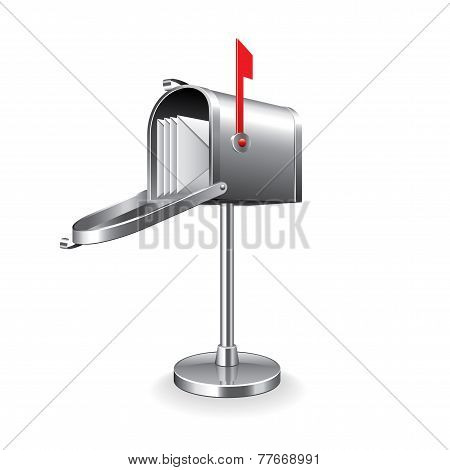 Mail Box Isolated On White Vector