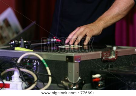 DJ - music turntable