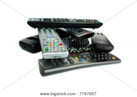 Lot Of Remote Control Devices