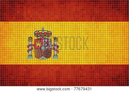 Mosaic Flag of Spain