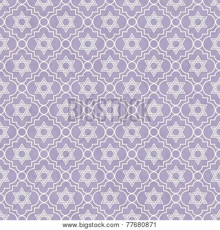 Purple And White Star Of David Repeat Pattern Background