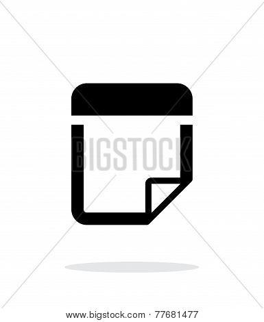 Note icon on white background.