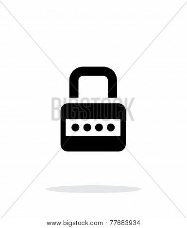 Lock with password icon on white background.