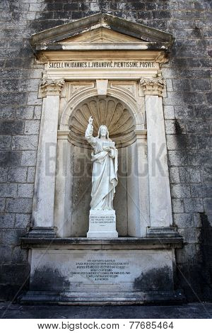 PRCANJ, MONTENEGRO - JUNE, 08: Christ Teaching, The Catholic Church of the Birth of the Virgin Mary, on June 08, 2012, in Prcanj, Montenegro