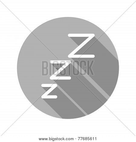 Vector flat modern round sleep icon