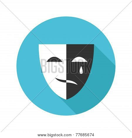 Vector flat modern round mask icon