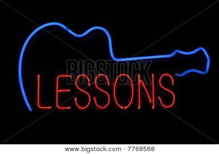 Gitarre Unterricht Leuchtreklame