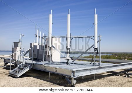 Cellular Equipment On The Roof