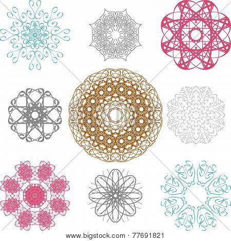 Set of spirographs for your design