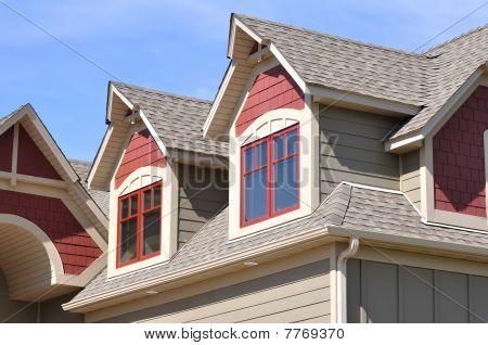 Gable Dormers On Residential Home