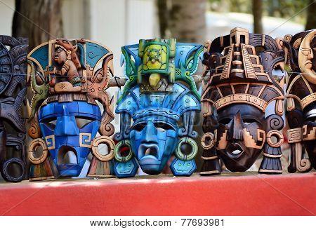 Turquoise Mayan Mask