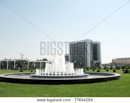Tashkent Fountain On The Independence Square 2007