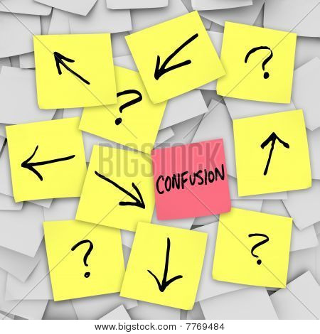 Confusion - Sticky Notes