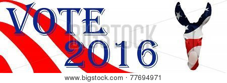 Bumper Sticker For Democrat 2016