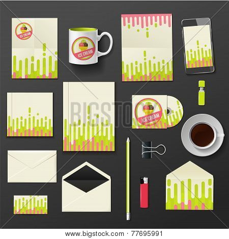Vector company corporate style template design, stylish ice cream