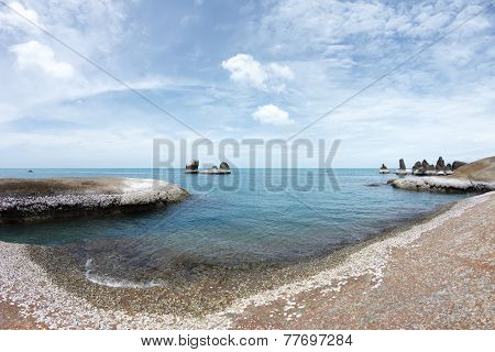 Rocky Beach And Awesome Blue Sea Water - Beauty Of Nature