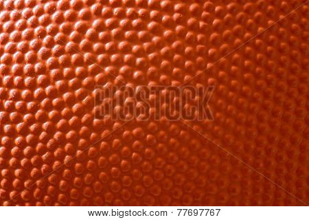 Basketball Close Up Shot Or Texture