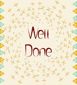 stock photo of job well done  - Well Done Card - JPG