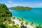 stock photo of thong  - View point Wua Talab island Ang Thong National Marine Park Koh Samui Thailand - JPG