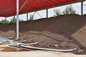 picture of aeration  - Industrial compost heap with forced aeration pipes - JPG