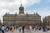 stock photo of dam  - Amsterdam The Netherlands  - JPG