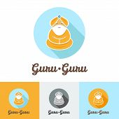 image of guru  - Vector flat modern minimalistic guru logo set - JPG