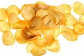 Chips On White Close Up