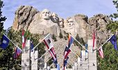foto of mount rushmore national memorial  - Views of Mt Rushmore located in the Black Hills of South Dakota - JPG