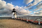 foto of rebuilt  - The little lighthouse at Brant Point in Nantucket - JPG