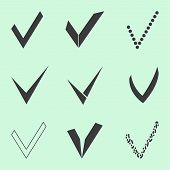 stock photo of confirmation  - confirm icons set - JPG