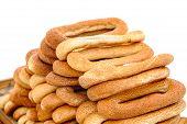 image of bagel  - Tray with fresh bagels outdoors Jerusalem Israel - JPG
