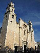picture of yucatan  - Merida Cathedral at yucatan peninsula in Mexico - JPG
