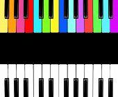 stock photo of rainbow piano  - piano isolated for play - JPG