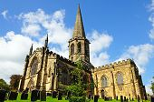 stock photo of church-of-england  - All Saints Parish Church and churchyard Bakewell Derbyshire England UK Western Europe.