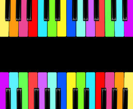 picture of rainbow piano  - piano isolated for play - JPG