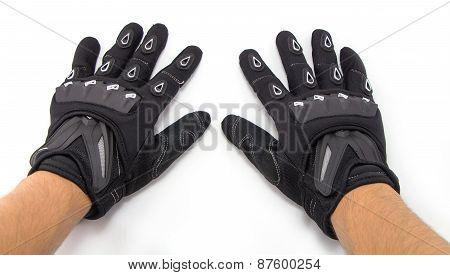 Black Motorcycle gloves