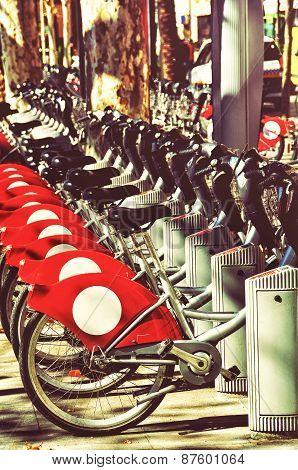 Tourist Bikes In Seville, Spain