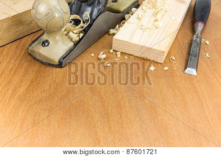 Joiner Tools On Wood Workbench