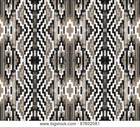 geometric Pattern On The Fabric
