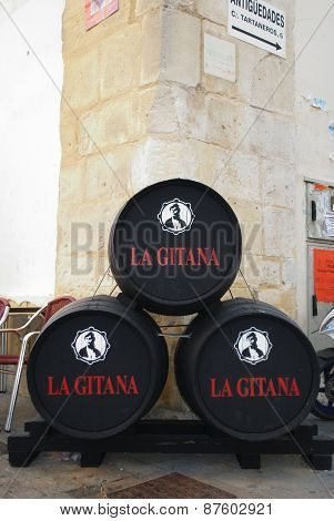 La Gitana sherry barrels.