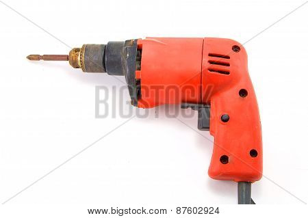 Orange mini Portable drill