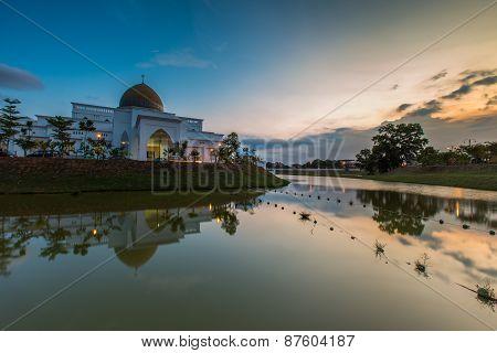 Sunset At UIAM Kuantan Mosque, Malaysia