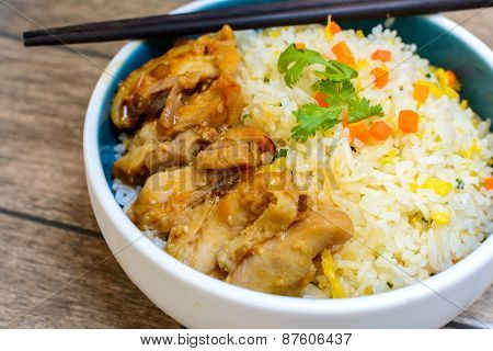 Fried Rice With Teriyaki Chicken