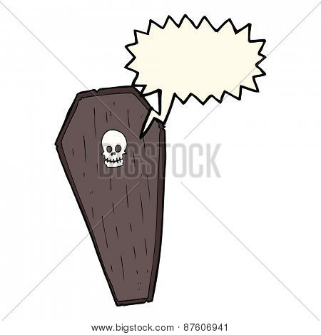 cartoon screaming coffin
