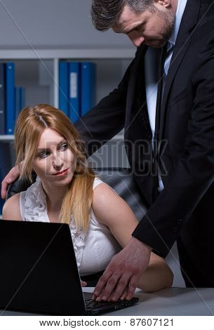 Boss Harassing Secretary